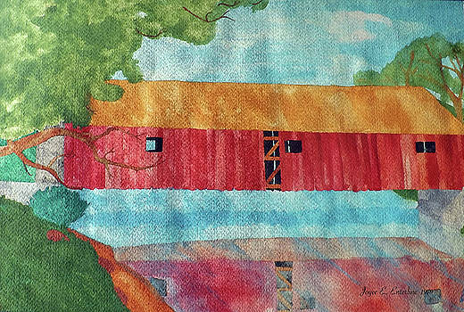 Red Covered Bridge by Joyce Wasser
