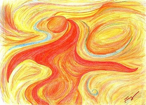 Red Dancer by Julia Woodman