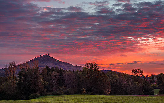 Red Dawn over the Hohenzollern Castle by Dmytro Korol