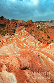 Red Desert Stripes by Mike Dawson