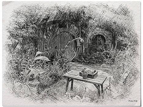 Kathy Kelly - Red Door Hobbit Illustration