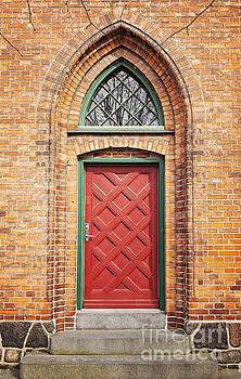 Sophie McAulay - Red door in brick wall