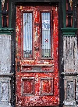 Red Door in Portsmouth NH by Nancy De Flon