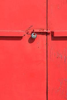 Red Door Lock by Darren Kearney