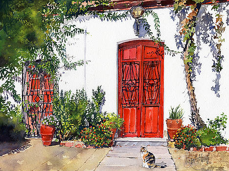 Red Doors Puertas Rojas by Margaret Merry