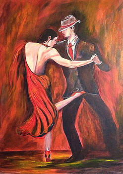 Red Dress Dancers by Dale Carr