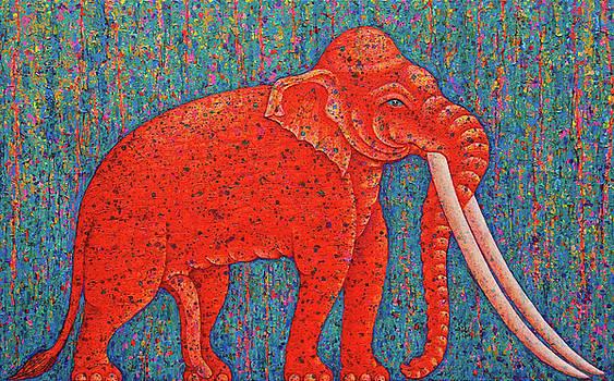 Red Elephant  by Opas Chotiphantawanon
