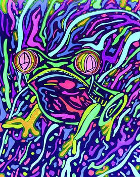 Red Eye Tree Frog 2 by Megan Howard