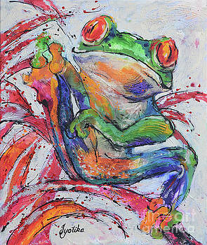 Red-eyed Frog  by Jyotika Shroff