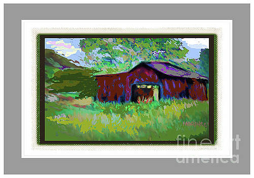 Red Farm Barn by Shirley Moravec