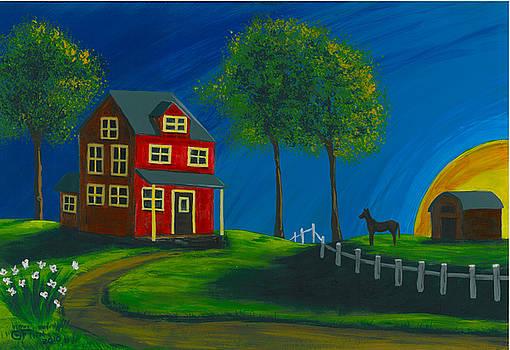 Red Farm House by Gail Finn