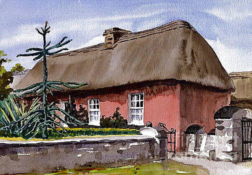 Red Farmhouse Bunratty Clare by Val Byrne