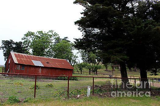 Red Farmhouse by Katherine Erickson