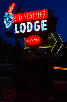 Red Feather Lodge Neon by James Marvin Phelps