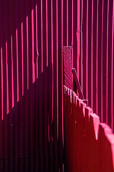 Red Fence And Wall by Garry Gay