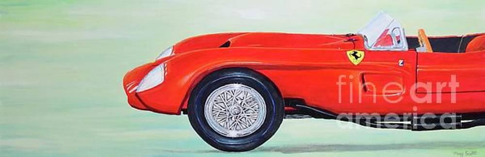 Red Ferrari by Mary Scott