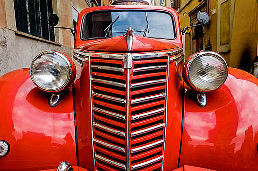 Red Fiat Truck Rome Italy by Xavier Cardell