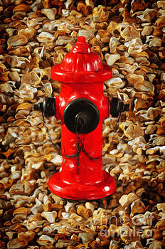 Red Fire Hydrant by Andee Design