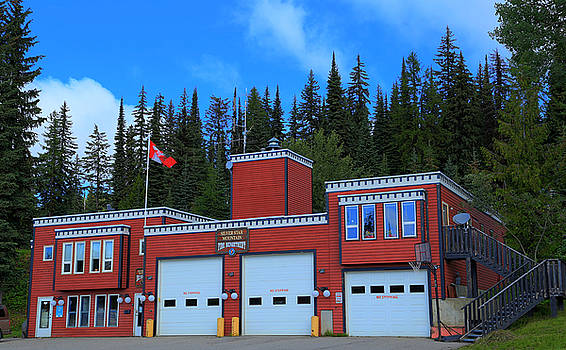 Red Fire Station by Bonnie Davidson