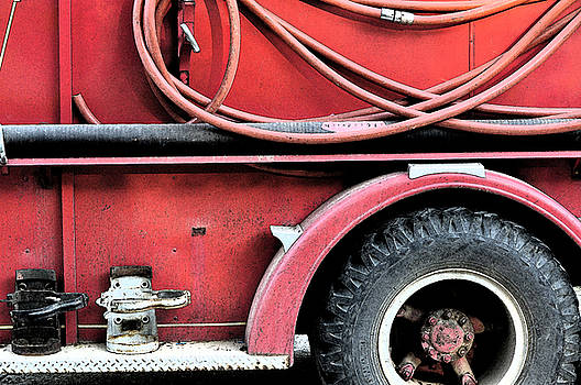 Red Fire Truck 3 by Peter  McIntosh