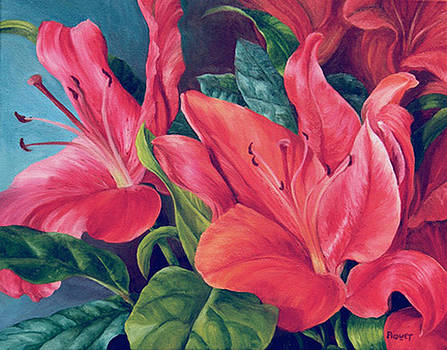 Red Flames by Rita-Anne Piquet
