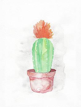 Red Floral Cactus by Armando Elizondo