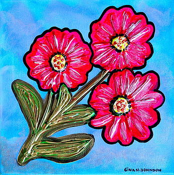 Red flower by Gina Nicolae Johnson