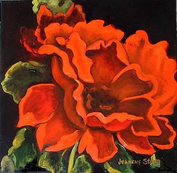 Red Flower by Jeanene Stein