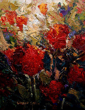 Kanayo Ede - Red Flowers 1