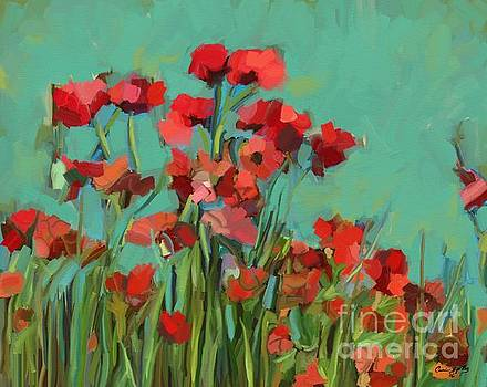 Red Flowers by Carrie Joy Byrnes