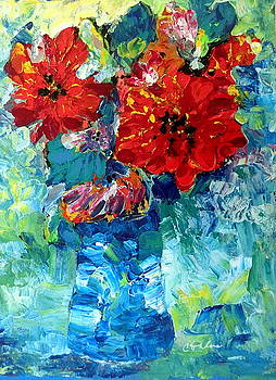 Red Flowers by Cheryl Ehlers