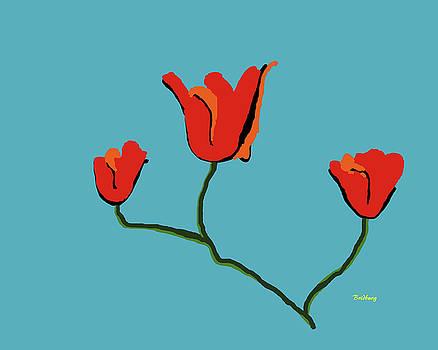 Red Flowers by David Bridburg