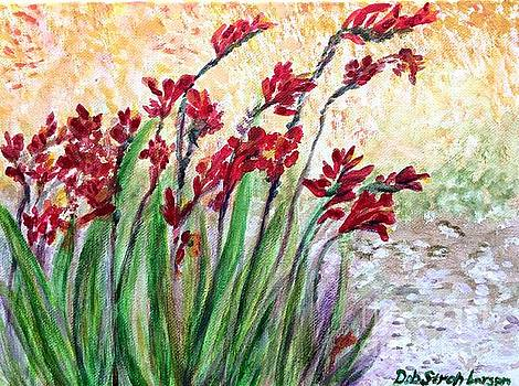 Red Flowers by Deb Stroh Larson