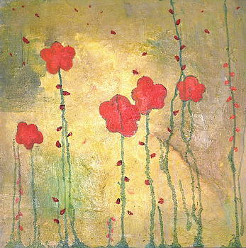 Red Flowers by Jane Clatworthy