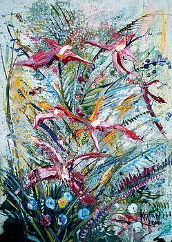 Red Flowers by John Keaton