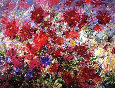 Red Flowers by Mario Zampedroni