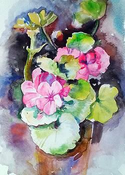 Red flowers  by Valeriya Temnenko