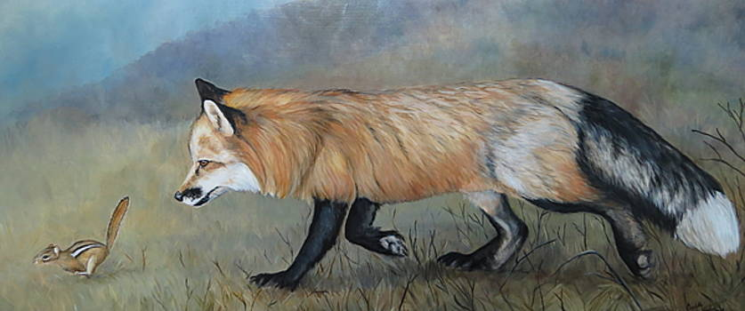 Red Fox Encounter by Charlotte Yealey