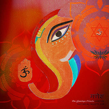 Red Ganesha by Sandra Petra Pintaric