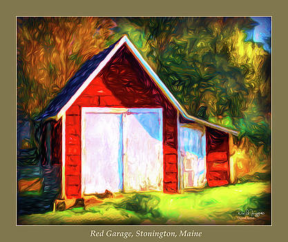 Red Garage, Stonington, Maine by Dave Higgins