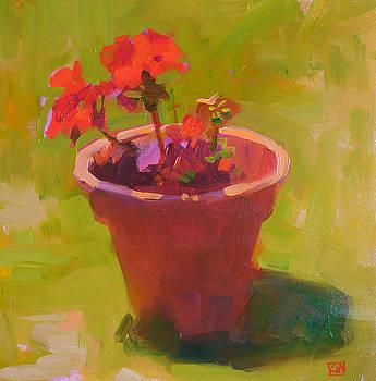 Red Geranium by Kathleen Weber