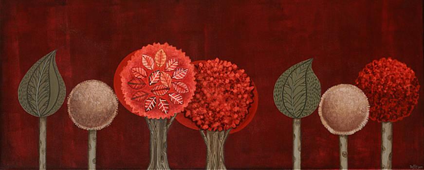 Red grove by Graciela Bello
