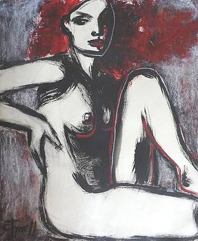Red Haired Nude Lady 1 by Carmen Tyrrell