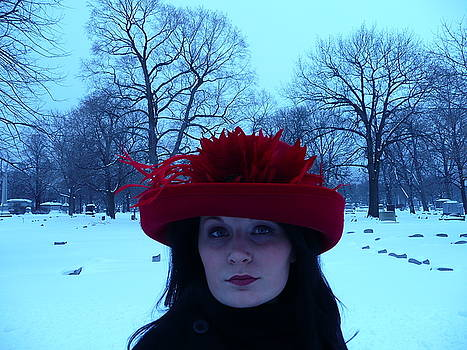 Red Hat on a Blue Day by Cynthia Conte