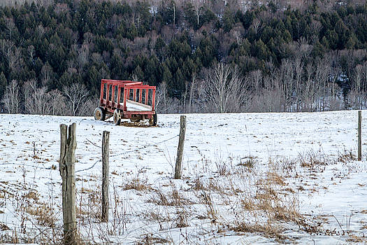 Red Hay Wagon by Frank Morales Jr