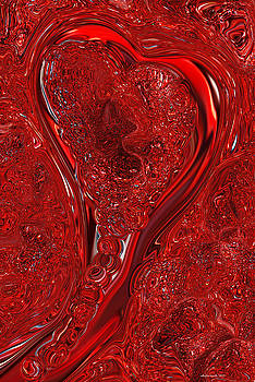 Michelle  BarlondSmith - Red Heart Abstract