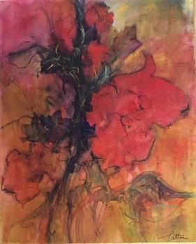 Red Hibiscus by Karen Ann Patton