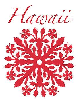 James Temple - Hawaii Red Hibiscus Quilt