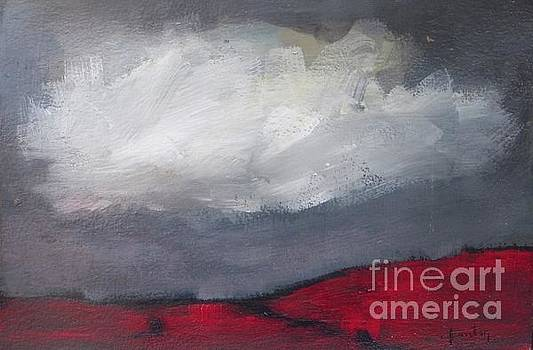 Red Hills and Clouds by Vesna Antic