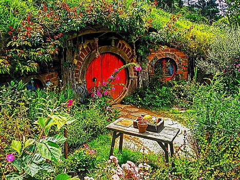 Kathy Kelly - Red Hobbit Door